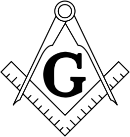 "The Square and Compasses is one of the most prominent symbols of Freemasonry. The ""G"" in the middle represents God, otherwise known inside Lodges as ""The Grand Geometrician of the Universe"", since Freemasonry demands belief in no specific faith, simply a belief in a ""Supreme Being"". It has also been ascribed to the Worshipful Master's word. Some also claim that it represents Gnosticism or Saint Germain. The symbol of the Square and Compasses is a trademark and has been registered in some jurisdictions. [1] This image was created for the Grand Lodge of British Columbia and Yukon in 1993. [2]"