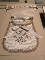 Apron and sash presented to the Empress Josephine on her admission to the Lodge of Virtue, Strasbourg, 1805